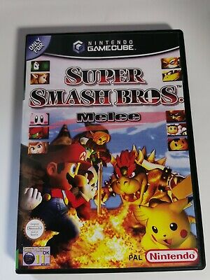 Nintendo GameCube replacement game case and Cover Super Smash Bros. Melee