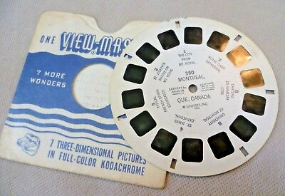 Vintage Viewmaster - Sawyer's Single Reel 380 Montreal Quebec Canada 1946