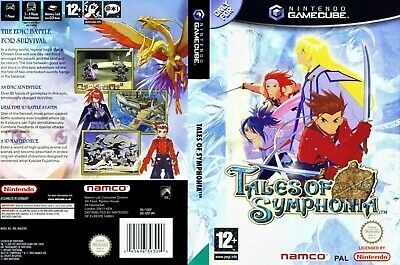 Nintendo GameCube replacement game case and Cover Tales Of Symphonia