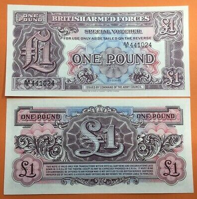British Armed Forces £1 One Pound UNC Banknote *QH36
