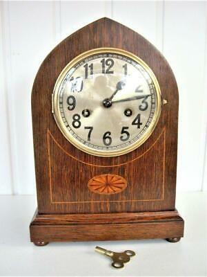 Antique Inlaid 8-Day Lancet Clock - Restored.