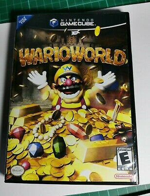 Nintendo GameCube replacement game case and Cover Wario World