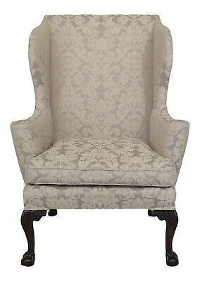 L46927EC: KITTINGER CW-104 Colonial Williamsburg Claw Foot Wing Chair