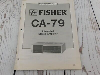fisher ca-79 integrated stereo amplifier service manual w/wiring diagram