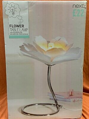 NEXT White Flower Lamp with Cool Touch Bulb LED Polypropylene Girls Bedroom