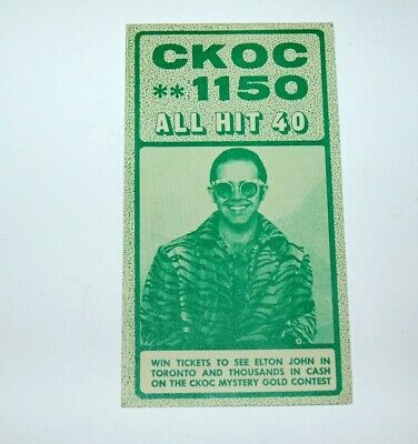 CKOC Music Chart, Elton, Elvis Oct 30,1974 Excellent Condition (like chum chart)