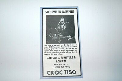 CKOC Music Chart,  Elvis! March 6,1974 Excellent Condition!