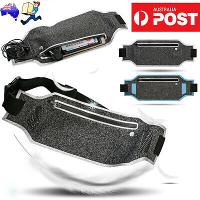Sports Fanny Belly Waist Bum Bag Fitness Running Jogging Belt Pouch Pack AU