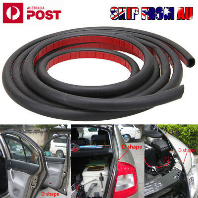 4Meter D Shape Car Truck Door Rubber Seal Strip Wheatherstrip Sealing Hollow