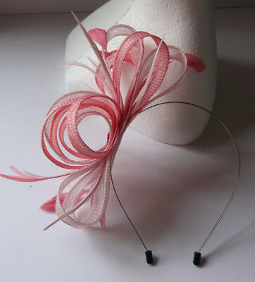 Nude pink /salmon pink fascinator headband for wedding/mother of the bride/races