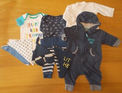 Lot Dp - Baby Boys Clothes Bundle - 0-3 Months - Mothercare - Used
