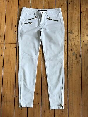 Zara Ladies White Skinny Leg Denim Jeans Uk8 L27