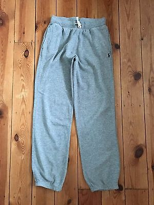 POLO by RALPH LAUREN BOYS GREY TRACKSUIT BOTTOMS - MEDIUM (10-12 YEARS)