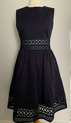 439e765c6220 NEW TED BAKER Dayzey A-Line Lace Panel Dress Black Outlet size 3 US ...