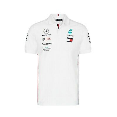 NEW 2019 Mercedes AMG F1 Team Lewis Hamilton Polo Shirt WHITE Mens – OFFICIAL
