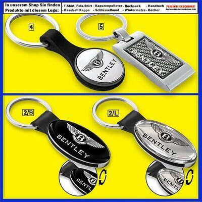 Bentley Key Ring Leather Metal Silver Keychain Car Auto Logo T Shirt Accessories