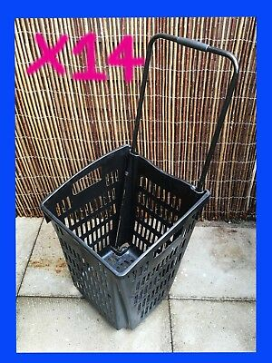 Plastic Shopping Trolley Baskets/ Supermarket Retail Commercial Shop *Job Lot U