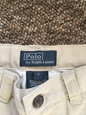 NEW Child jeans, brand ''POLO Ralph Lauren'', size years 7, color beige.