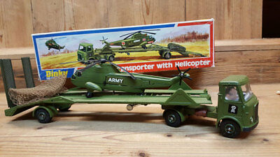 Dinky Toys, Tieflader mit Helicopter, Sea King, Transporter mit Sea King,
