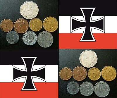 2 5 1 Lot of Germany coins 10 pfennig  with Swastika
