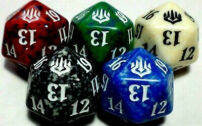 Magic: the Gathering MTG WAR OF THE SPARK PRERELEASE 20 SIDED DICE PROMO SET 5