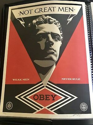 2013 Shepard Fairey Not Great Men Obey Screen Print Signed Numbered Mint S/N