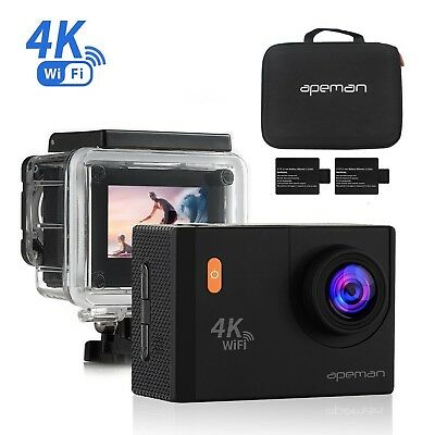 APEMAN Action Camera Camcorder 4K 20MP WiFi Ultra HD Underwater 40M 170 Degree