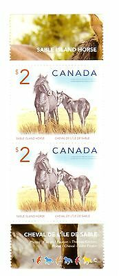 Canada $2 x 2 Uncancelled Sable Island Horse stamps with most gum cheval l'ile