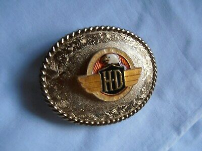 "Vintage~1978 Raintree~Harley Davidson ""Hd""~Belt Buckle~By & For The People"