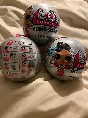 LOL SURPRISE DOLL lot of x 3 BLING SERES Limited Edition 2018