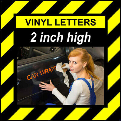 4 Characters 1.25 inch 32mm high pre-spaced stick on vinyl letters /& numbers