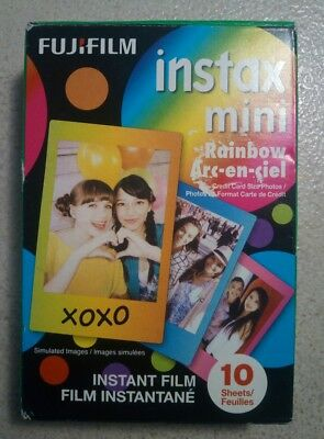 Fujifilm Instax Mini Rainbow Instant Film - EXPIRED 11/2017 - 10 Sheets - AS-IS