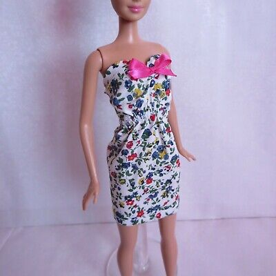 Floral Cutout Dressfor Doll -Handmade Clothes for doll 11-11.5-12in