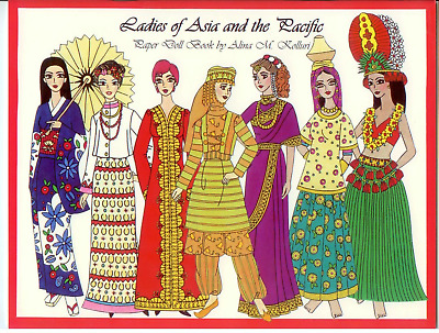 LADIES OF ASIA AND THE PACIFIC Paper doll dolls booklet 2006 UNCUT Alina Kolluri