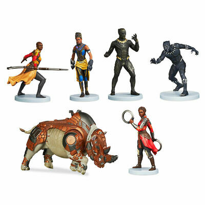 Disney store Black Panther Playset Figurine Cake Topper 6 pcs PVC NEW
