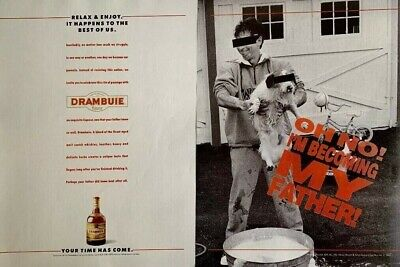1992 DRAMBUIE Liqueur Oh No! I'm Becoming My Father! Vintage PRINT AD