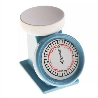 Coles Little Shop Mini Collectables - Blue Kitchen Scales. 1:12th Miniature