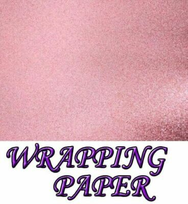 sparkle Glitter gift wrapping sheet perfect for Christmas-69x49cm-Light Pink