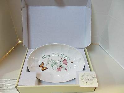 LENOX BUTTERFLY MEADOW BLESS THIS HOME OVAL SERVING BOWL TRAY - New in Box!