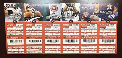 2014 Astros Un Used Season Ticket HR Game YOU PICK Correa Altuve MVP Springer