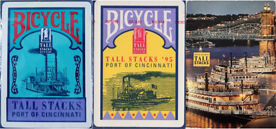 Bicycle & USPCC Tall Stacks Playing Cards 3 Deck Set – Limited Editions - SEALED