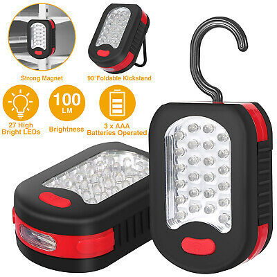 FLASHLIGHT 24 3 = 27 LED Bulb BRIGHT Work LIGHT Magnetic Hanging compact GORDON