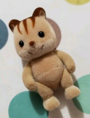 Sylvanian Families Calico Critters Hazelnut Chipmunk Family Baby Stands Posable
