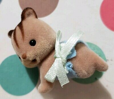 Sylvanian Families Calico Critters Hazelnut Chipmunk Family Twins Baby Crawling