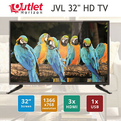 "JVL 32"" HD LED LCD TV Wall mountable HDMI USB Brand New Television Free Postage"