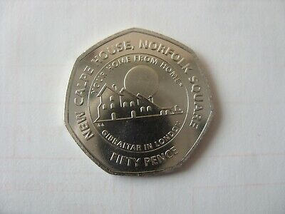 New !!! 50 Pence   2018 Gibraltar Hew Calpe House,Norfolk Square