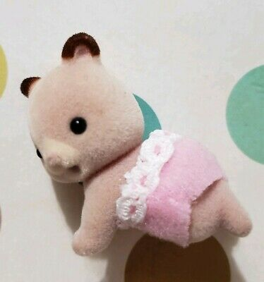 Sylvanian Families Calico Critters Fluffy Hamster Family Baby Figure Crawling