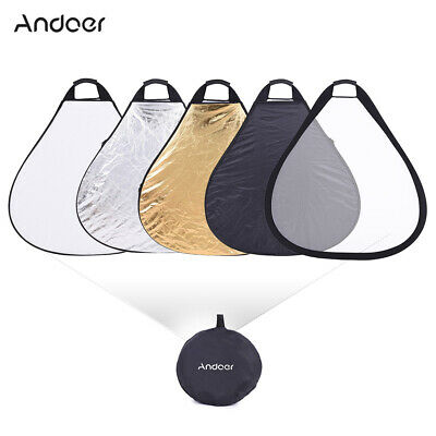 """Handheld 76cm 30"""" 5in1 Photography Studio Multi Collapsible Photo Reflector E6Z9"""
