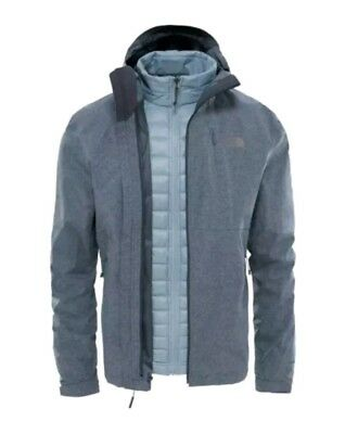 ^! North Face Thermoball Triclimate 3 In 1 Mens Jacket Coat Dark Grey Heather XS