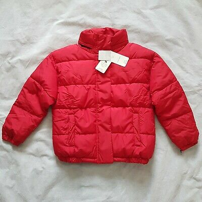 NEXT Girls Red Padded Puffa Coat Jacket Shower Resistant 8 Years